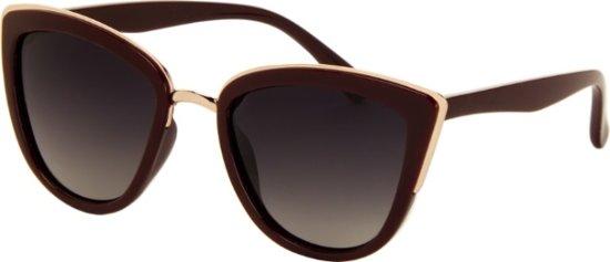 eb8f4617f62641 Az-eyewear Zonnebril Dames Bruin goud Met Grijze Lens (17-227 P