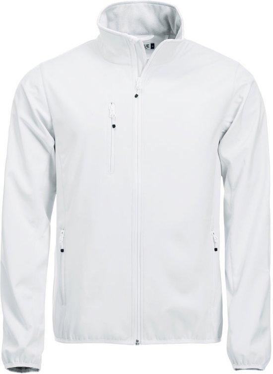 Clique Basic Softshell jacket heren wit xs