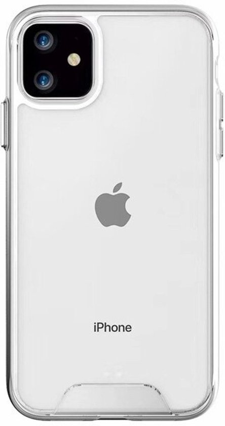 Teleplus iPhone 11 Case Gard Hard Silicone Transparent + Nano Screen Protector hoesje