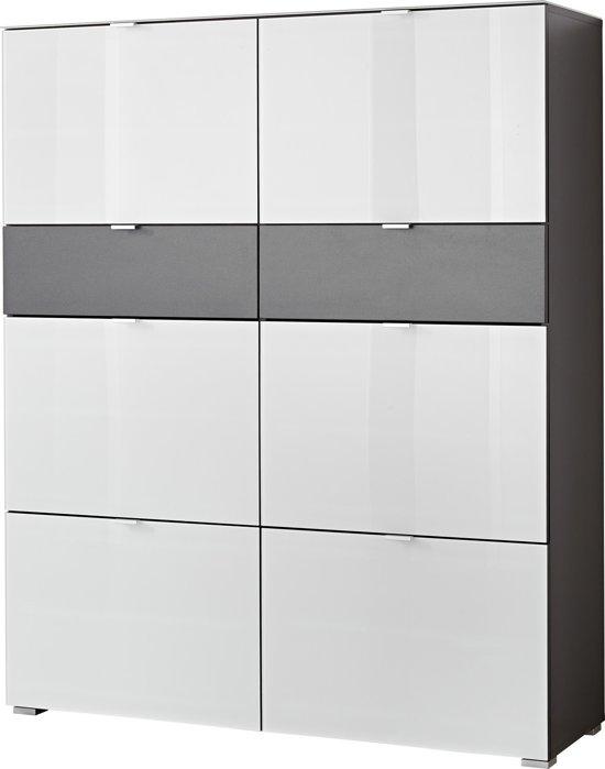 Germania Alameda - Schoenenkast - Grijs - Hout/Glas