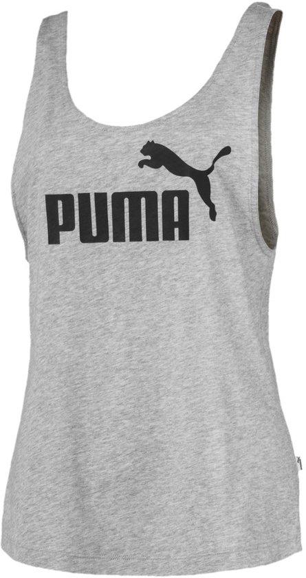 PUMA ESS Logo Tank Dames - Light Gray Heather - Maat S