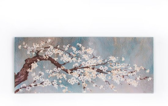 Art for the Home - Canvas Schilderij - Orchidee - Blauw - 100x40 cm