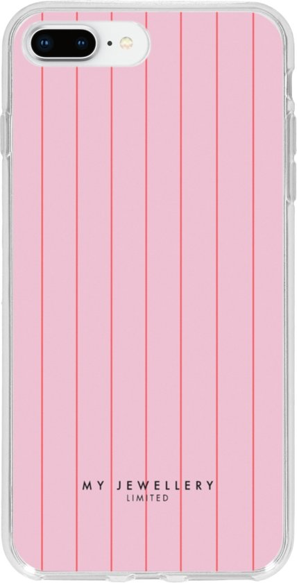 My Jewellery Design Backcover iPhone 8 Plus / 7 Plus hoesje - Striped Spring