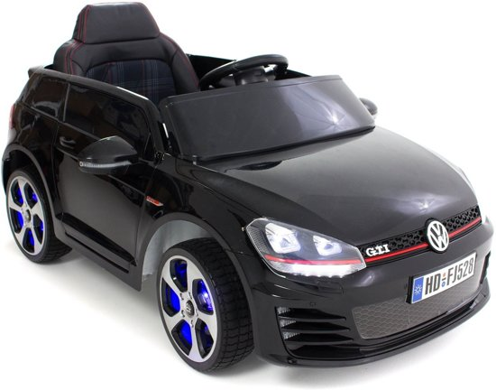 golf gti kinderauto zwart volkswagen speelgoed. Black Bedroom Furniture Sets. Home Design Ideas