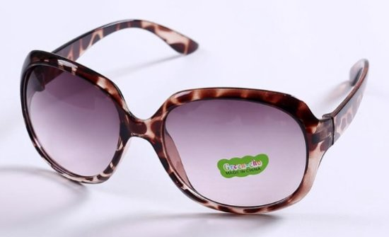 895a2117631fa3 BY-ST6 hippe meisjes zonnebril met subtiele tijgerprint in de kleur bruin  grijs