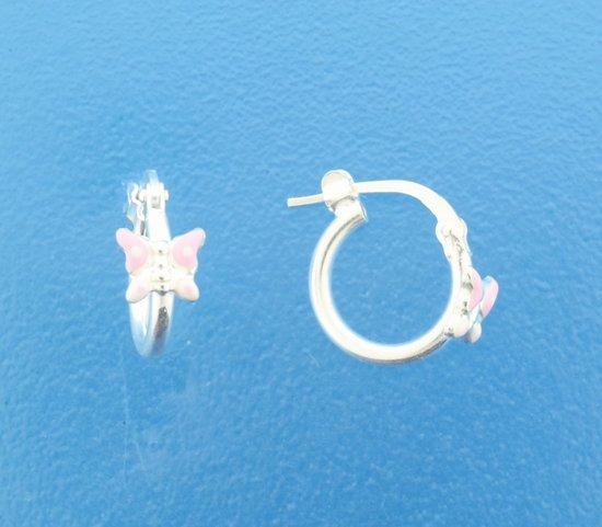 The Jewelry Collection oorringen Vlinder - Zilver