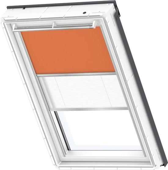 velux verduisterend rolgordijn plus pliss oranje handbediend raamcode. Black Bedroom Furniture Sets. Home Design Ideas