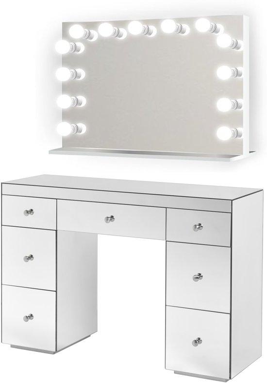 Uitgelezene bol.com | BRIGHT BEAUTY Hollywood spiegel make up tafel met LED ZC-32