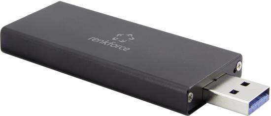 Renkforce RF-4521561 M.2 harde schijf-behuizing M.2 2230, M.2 2242 USB 3.0
