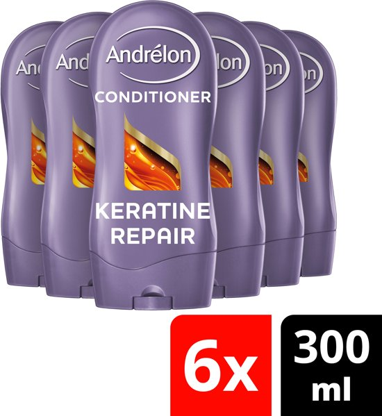 Andrélon Keratine Repair Conditioner - 6 x 300 ml - Voordeelverpakking
