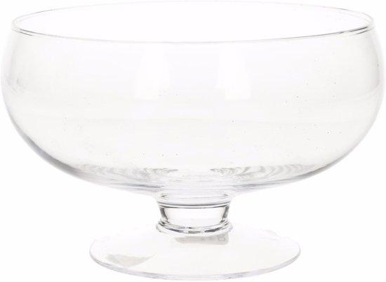 Trifle Schaal Op Voet.Glazen Ronde Vaas Op Voet 16 3 Cm