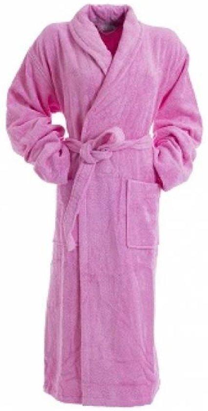 2fabcf83d6f Bamboe Sauna Badjas Roze XXXL / 3XL- dames badjas - badstof badjas -  ochtendjas -