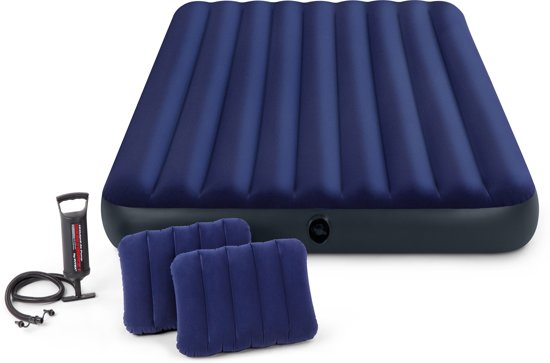 Intex Downy Queen Classic Luchtbed met pomp - 2-persoons - 203 x 152 x 22 cm