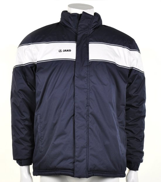 Jako Coach Jacket Player - Sportjas -  Heren - Maat L - Donker Navy;Wit