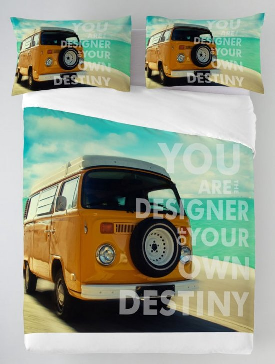 bol com   ZaZa Bedding Dekbedovertrek VW Bus   200×200  220