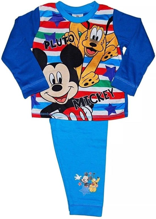 Mickey Mouse en Pluto pyjama maat 92/98 blauw full print