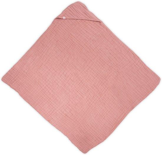 Badcape wrinkled hydrofiel 100x100cm coral pink