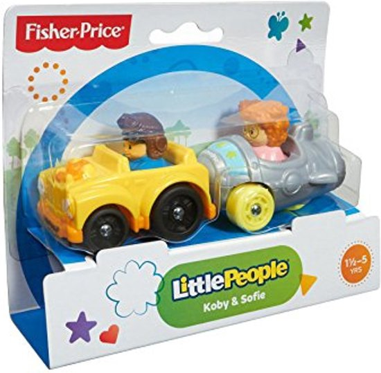 fisher price little people wheelies gele auto. Black Bedroom Furniture Sets. Home Design Ideas