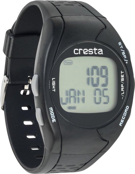 Cresta Plus - Sporthorloge - hartslagsensor - Zwart (met borstband)