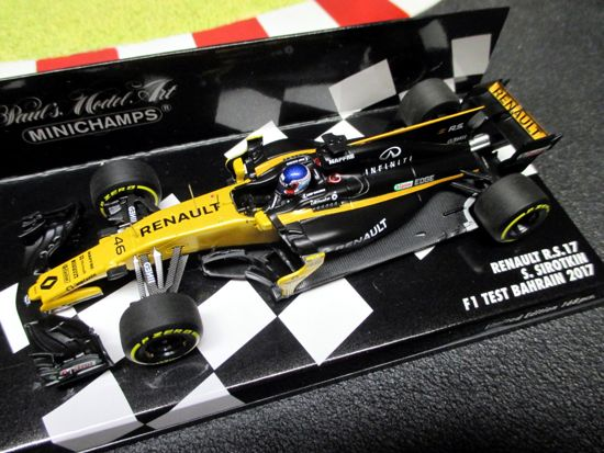 Renault R.S.17 S Sirotkin F1 Test Bahrain 2017 Minichamps 1-43 Limited Edition 168 Pcs Worldwide