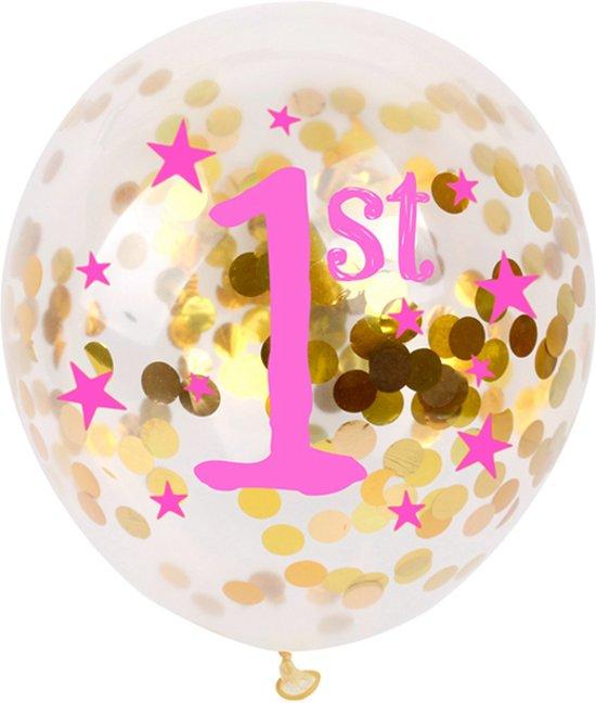 Wonderbaar bol.com   10 confetti ballon eerste verjaardag meisje MS-98