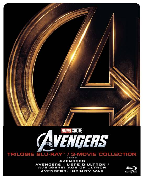 DVD cover van The Avengers Trilogy (Blu-ray) (Limited Edition) (Steelbook) (Exclusief bij bol.com)