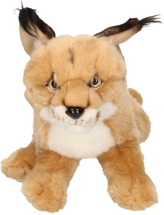 21b27425cb604b bol.com | Pluche Woestijn Lynx knuffel 28 cm, Merkloos | Speelgoed