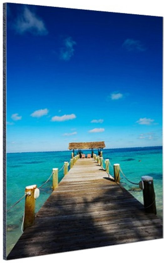 Steiger op de Bahamas Aluminium 80x120 cm - Foto print op Aluminium (metaal wanddecoratie)