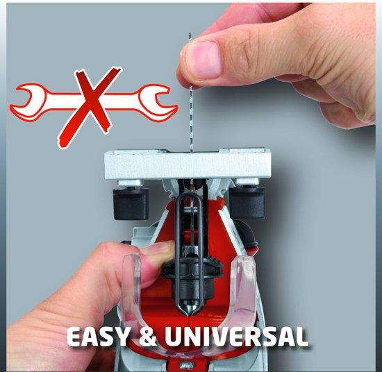 EINHELL Accu Decoupeerzaag TE-JS 18 Li Solo - Power-X-Change - 18 V - Slaghoogte: 25,4 mm - Zonder accu & lader