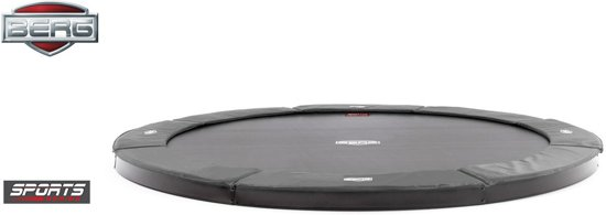 BERG FlatGround Champion inground Trampoline 430 - grijs