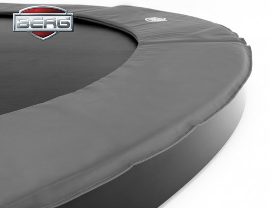 BERG FlatGround Champion inground Trampoline 430 - grijs