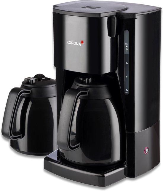 Korona 10311- koffiezetapparaat met 2 thermoskannen van 1 liter- 8 kopjes /zwart