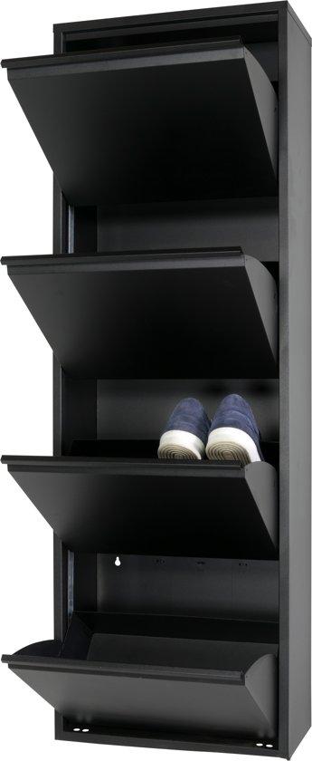 Schoenenkast In Stijl Design.Bol Com Spinder Design Billy 4 Schoenenkast Zwart