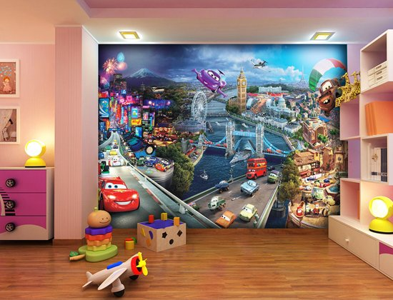 Dutch Wallcoverings Fotobehang Cars 2 Mix, 4-d