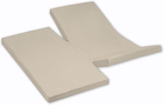 Damai - Hoeslaken dubbele split (tot 35 cm) - Katoen - 180 x 220 cm - Silver sand