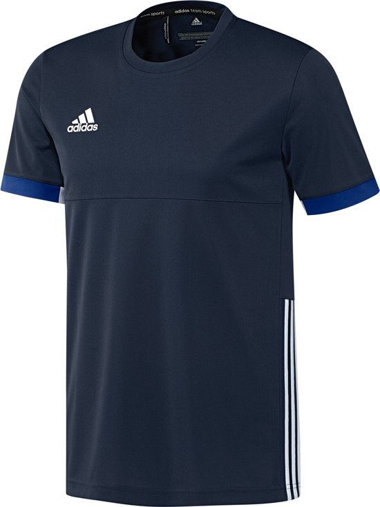 adidas T16 Team Tee Sportshirt - Maat XL - Mannen - blauw/wit