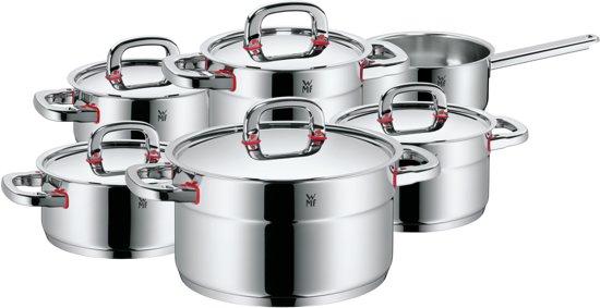 WMF Premium One - Pannenset - 6-delig - Glans RVS
