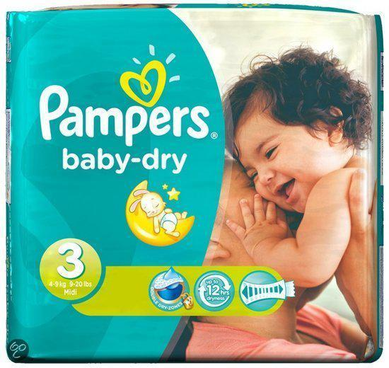 Pampers Baby luier Baby Dry Maat 3 -120st