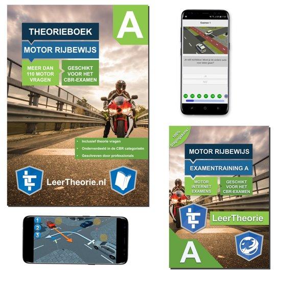 Motor Theorieboek - Theorie Leren Motor Rijbewijs A + 20 uur Online met 25 CBR theorie Examens 2018