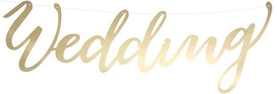 Gouden letter slinger Wedding.