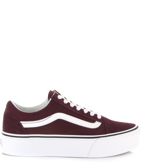 vans bordeaux rood dames