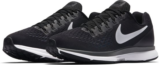 Nike Wmns Air Zoom Pegasus 34 Hardloopschoenen Dames - Black/White-Dark  Grey-Anthracite