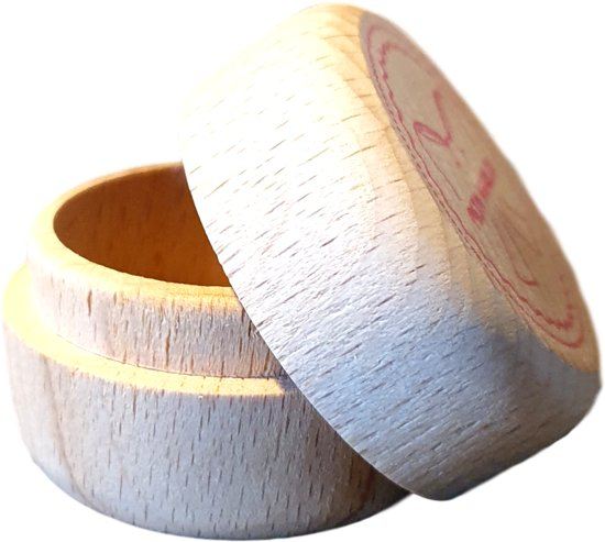 Tandendoosje hout - Houten doosjes set 4x - Haarlok doosje - Tandendoosje - Sieraden doosje - Navelstreng doosje- Origineel Kraamcadeau - Tandendoosje Meisje