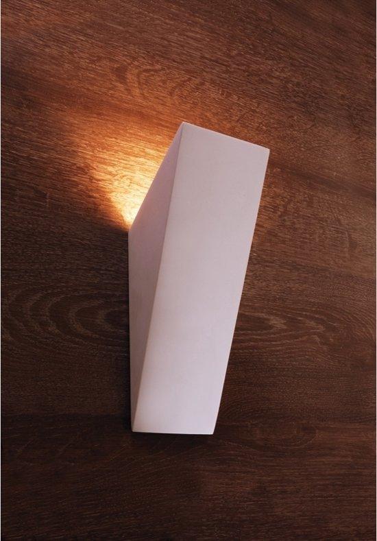 bol.com | Zoomoi Giade | Wandlamp woonkamer wit | slaapkamer | gips ...