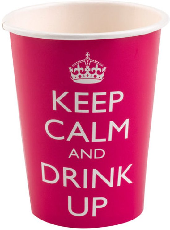 Papieren drinkbekers - Keep Calm Valentinaa