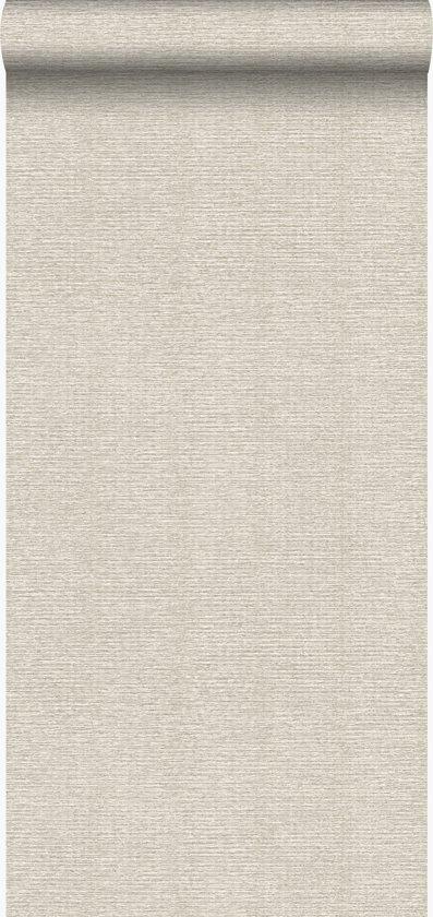 Origin behang linnenstructuur zand beige