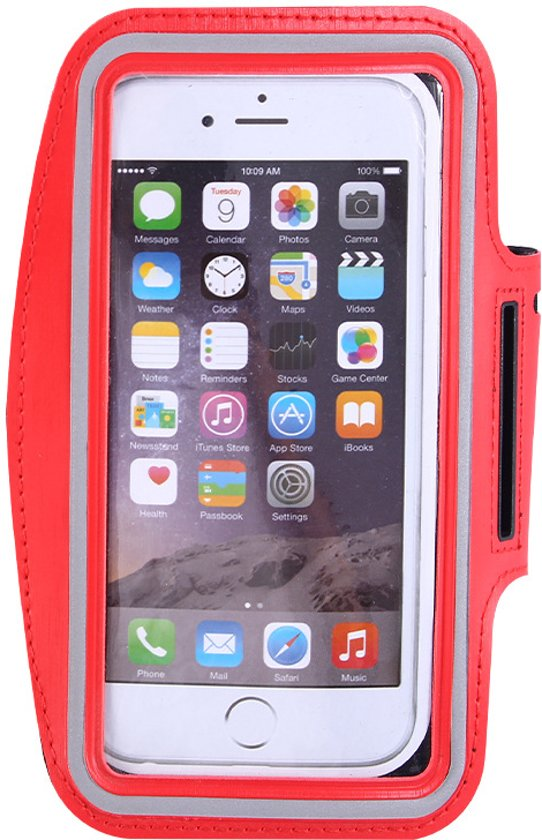 Pearlycase Sportarmband Hardloopband Rood voor Huawei P Smart Z
