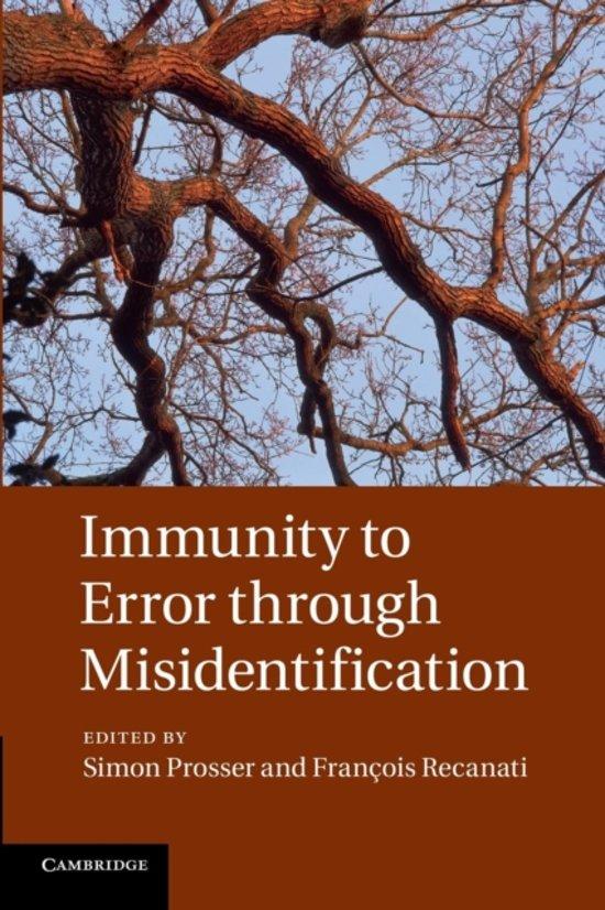 Immunity to Error through Misidentification