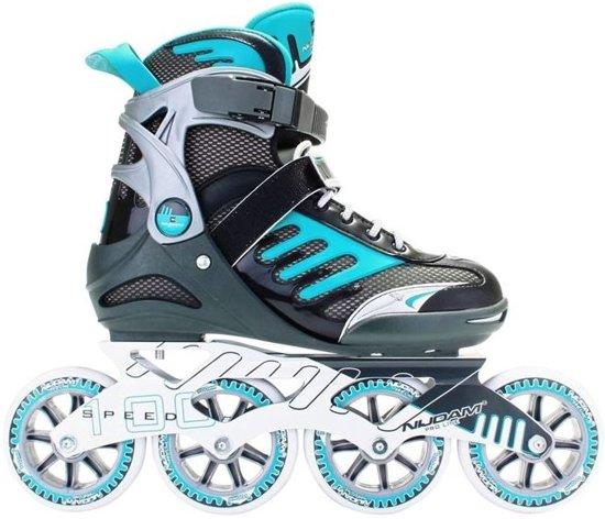 ca874260b79 bol.com   Nijdam Inline Skates Pro-line Fitness Antraciet/blauw Maat 41