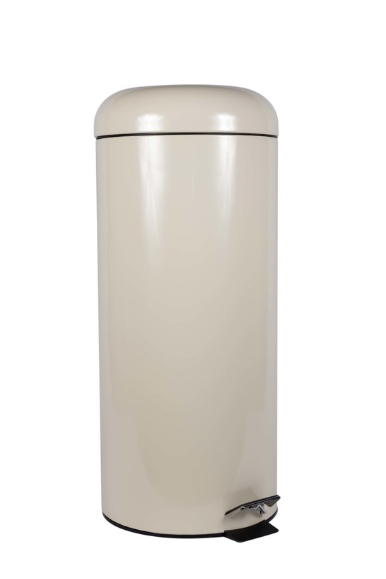 Perel Prullenbak - 30 l - Crème - Rond